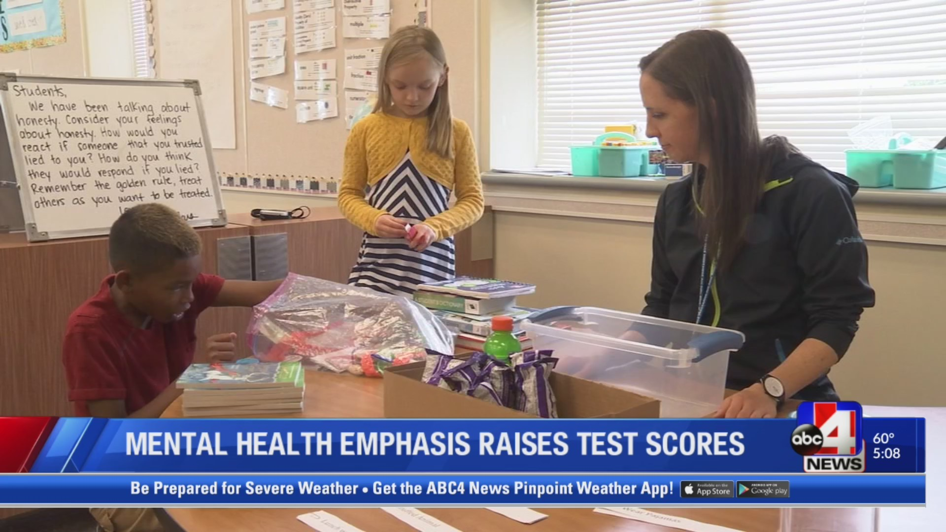 Mental Health emphasis positively effects test scores