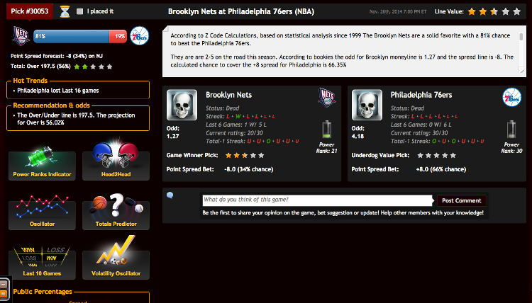 Capture d'écran exemple de prédictions