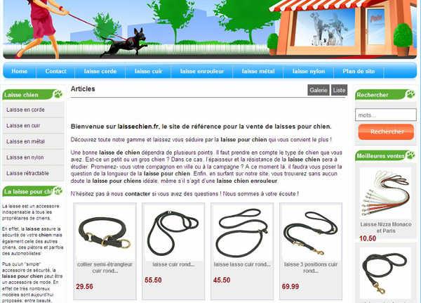 Un site entièrement consacré à la laisse de chien, et monétisé via Amazon