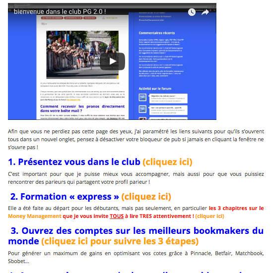 Club VIP Pariez Gagnant de Benoit Treanton : Comment commencer