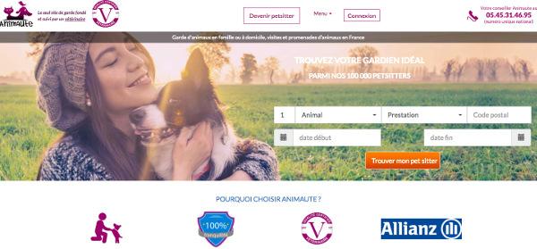 Page accueil du site Animaute