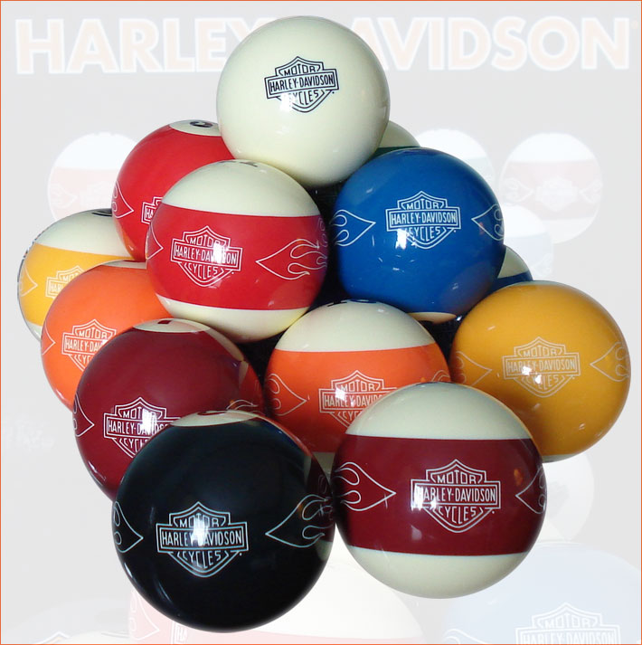 Harley Davidson Custom Billiard Ball Set Montreal