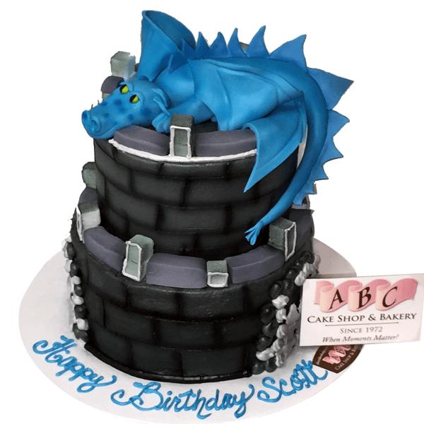 1859 2 Tier Castle With Blue Dragon Abc Cake Shop Amp Bakery
