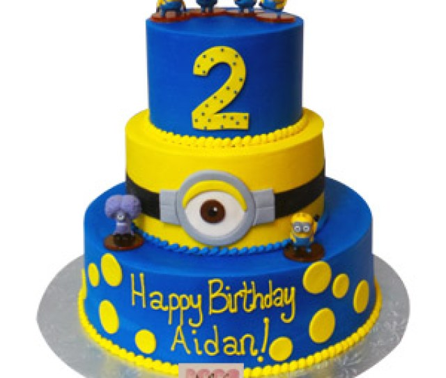 Tier Minion Birthday Cake