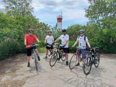 Agroup at lighthouse leslie spit