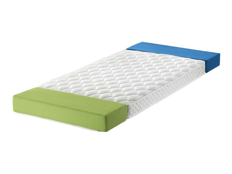 matelas evolutif 3 parties 90x200cm mousse bebe puericulture airbornesports linge de lit pour bebes