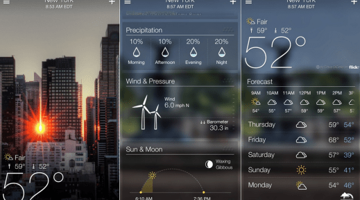 Yahoo! Weather, Favorite App