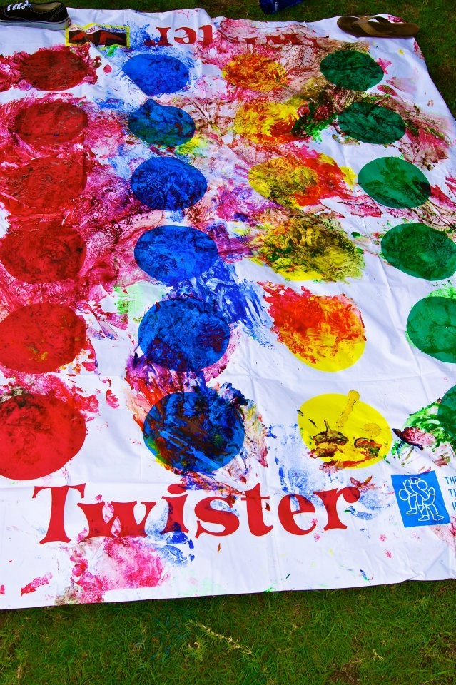 6 Creative Adult Party Activities - paint twister