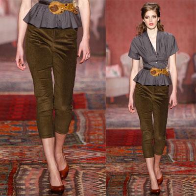 las principales tendencias de la moda otoño-invierno 2011/2012: terciopelo