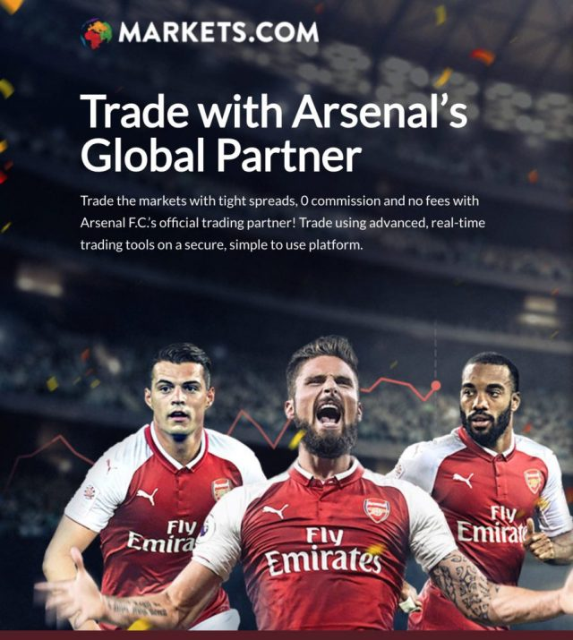 Markets.com Arsenal