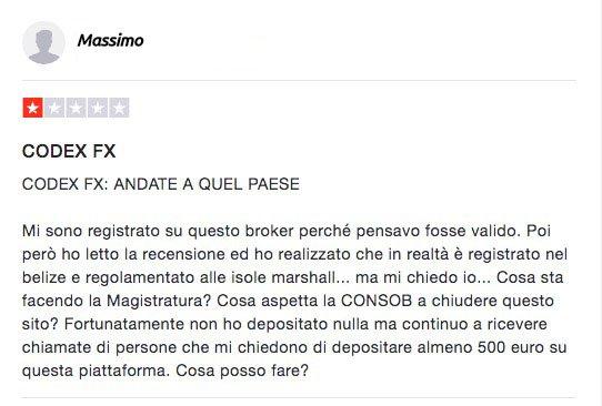 CodexFX Recensioni