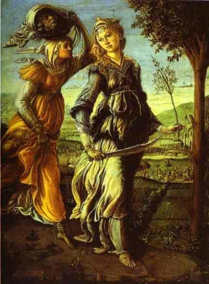 Alessandro Botticelli. Judith's Return to Bethulia.