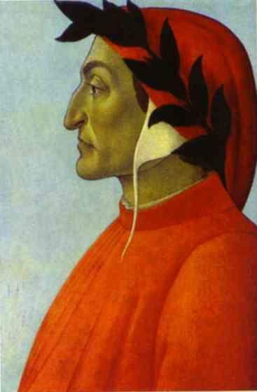 Alessandro Botticelli. Portrait of Dante.