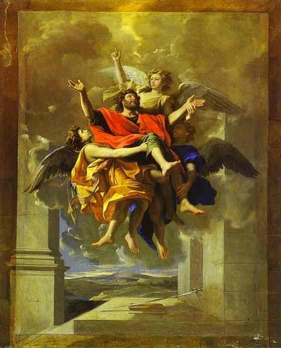 Nicolas Poussin. The Ecstasy of St. Paul.
