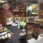 The infant room at our West Valley location is complete with toys, cribs and more for your little one.