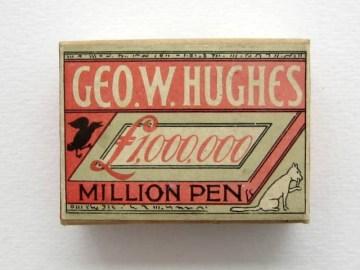 Geo. W. Hughes unopened box of Million Pen, medium point No 304.Price  £12-50.