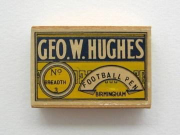 Geo. W. Hughes unopened box of Football Pen.  Price £15-00.