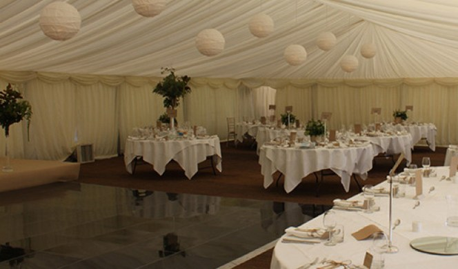Stylish Wedding Marquee  Interior