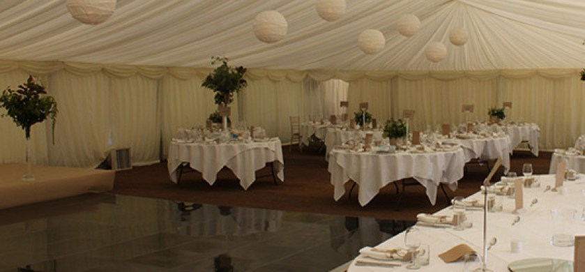 Stylish Wedding Marquee  Interior