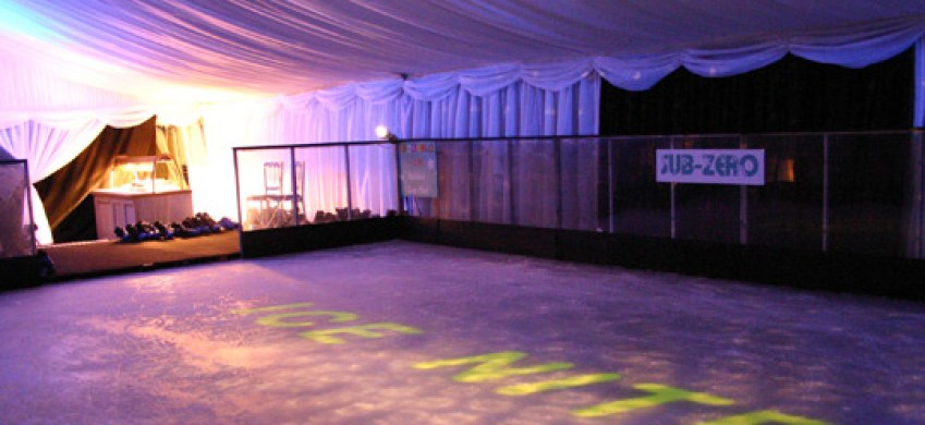 Ice Rink in a Marquee