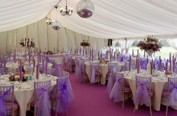 Lilac Wedding Marquee