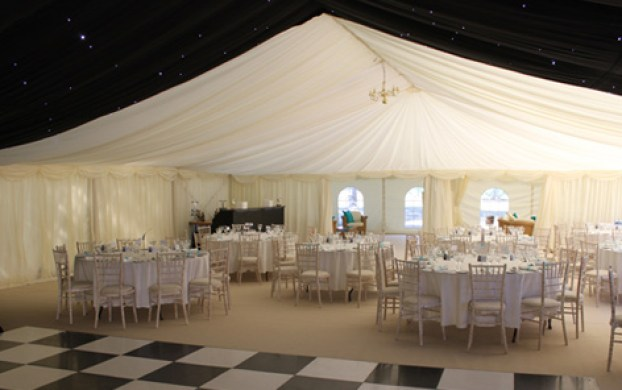 Dance floor and marquee linings