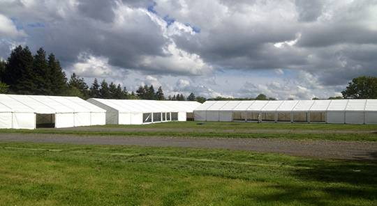 Marquees for Action Challenge at Tulleys Farm