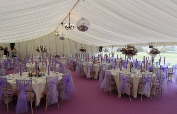 Lilac Wedding Marquee