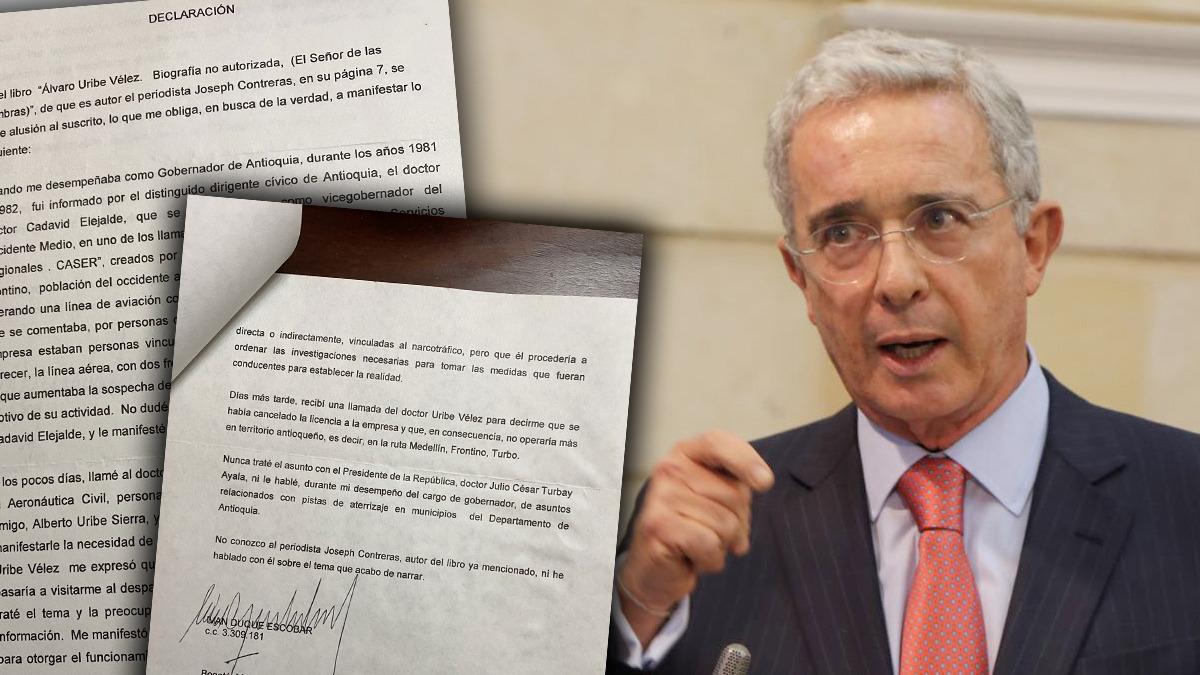 Uribe desmiente a 'Matarife' publicando declaración oficial del padre de  Iván Duque – ABC Política