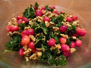 cranberries walnuts kale orange salad