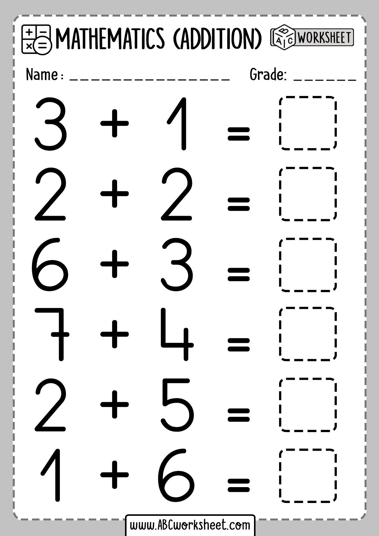 Addition Lessons For Kindergarten