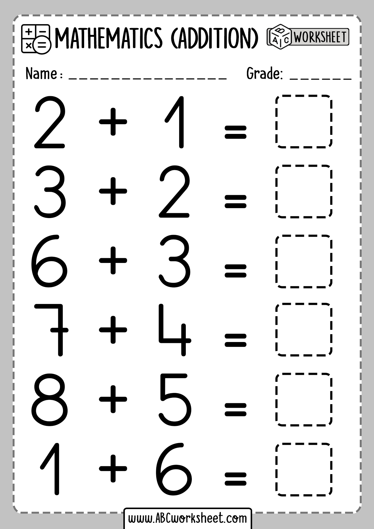 Beginner Addition Worksheets