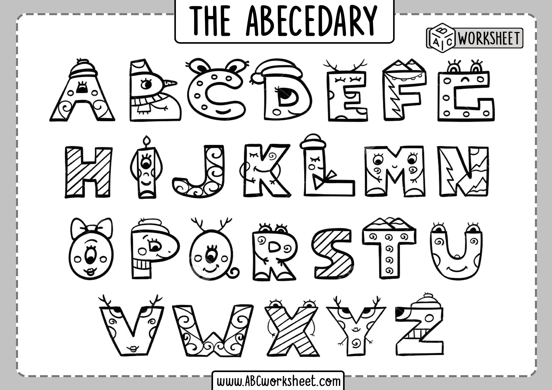 Capital Letters Coloring Printable