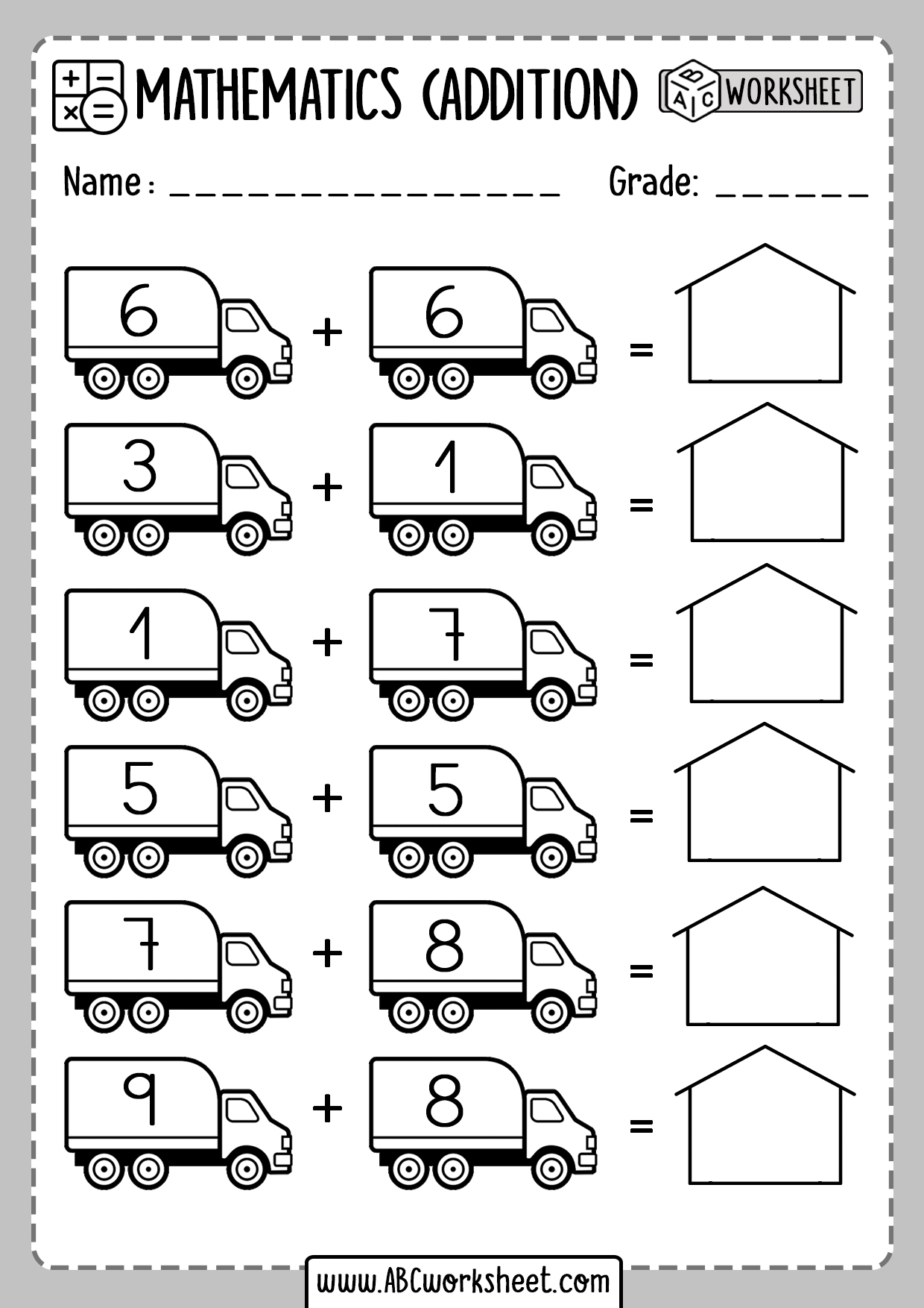 Easter Kindergarten Addition Worksheets