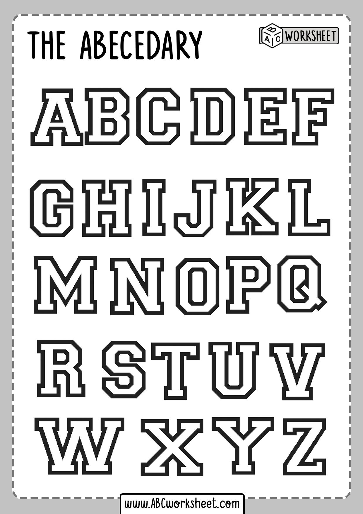 Printable Alphabet Coloring Worksheet