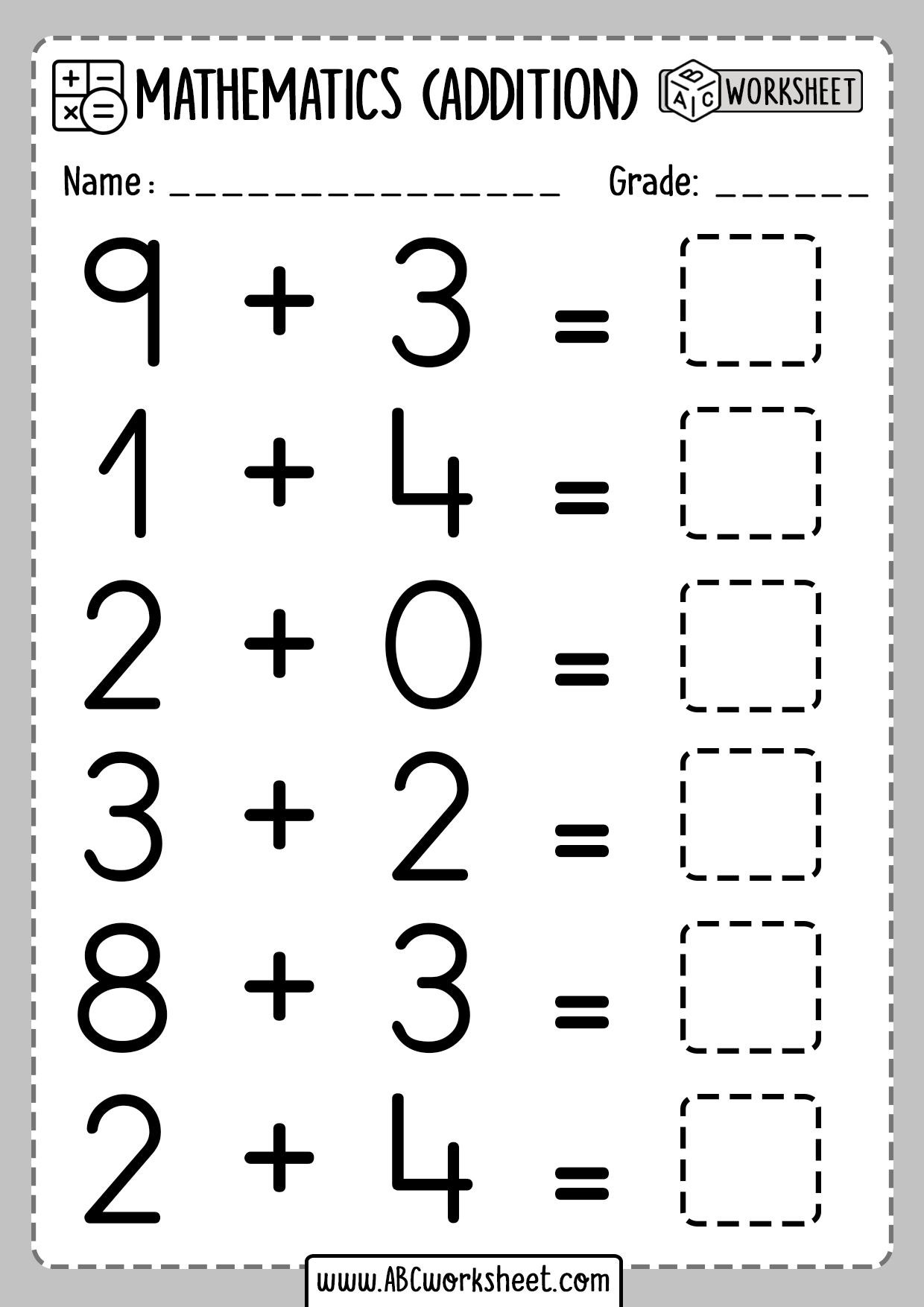 Single Digit Addition For Kindergarten