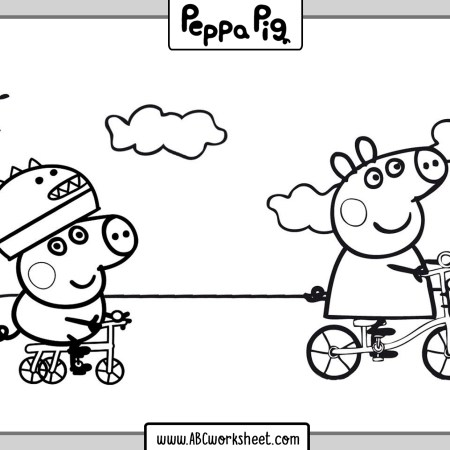 printable peppa pig coloring pages for kids