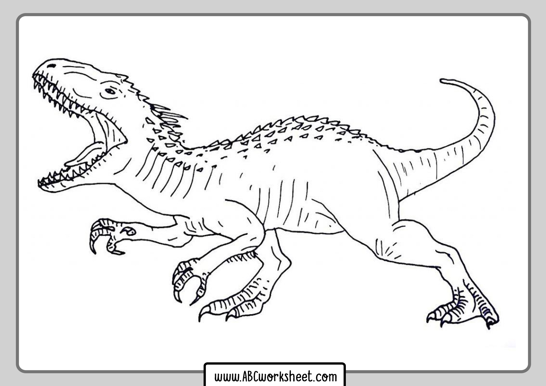 Dinosaur For Coloring