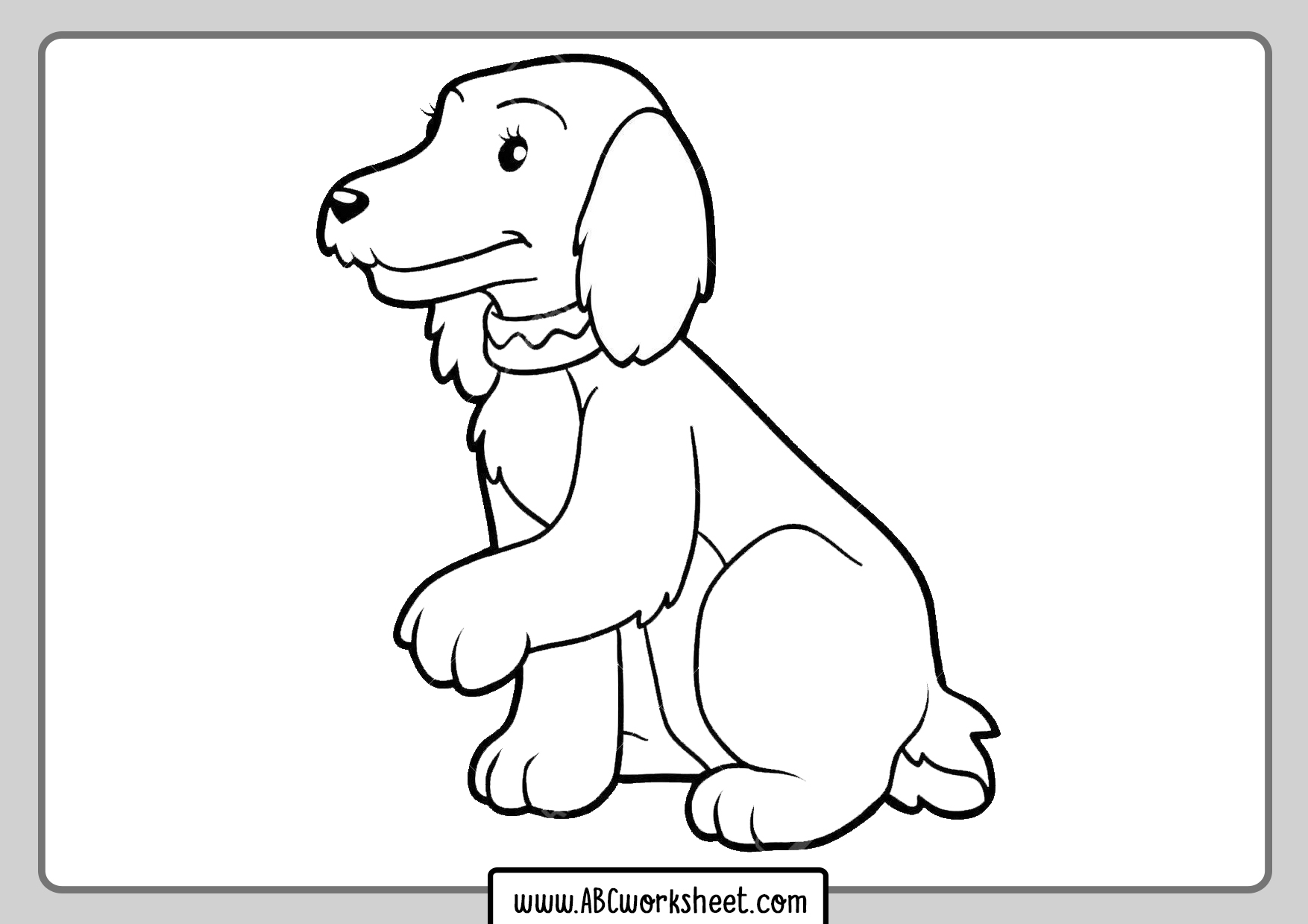 Dogs Coloring Sheets
