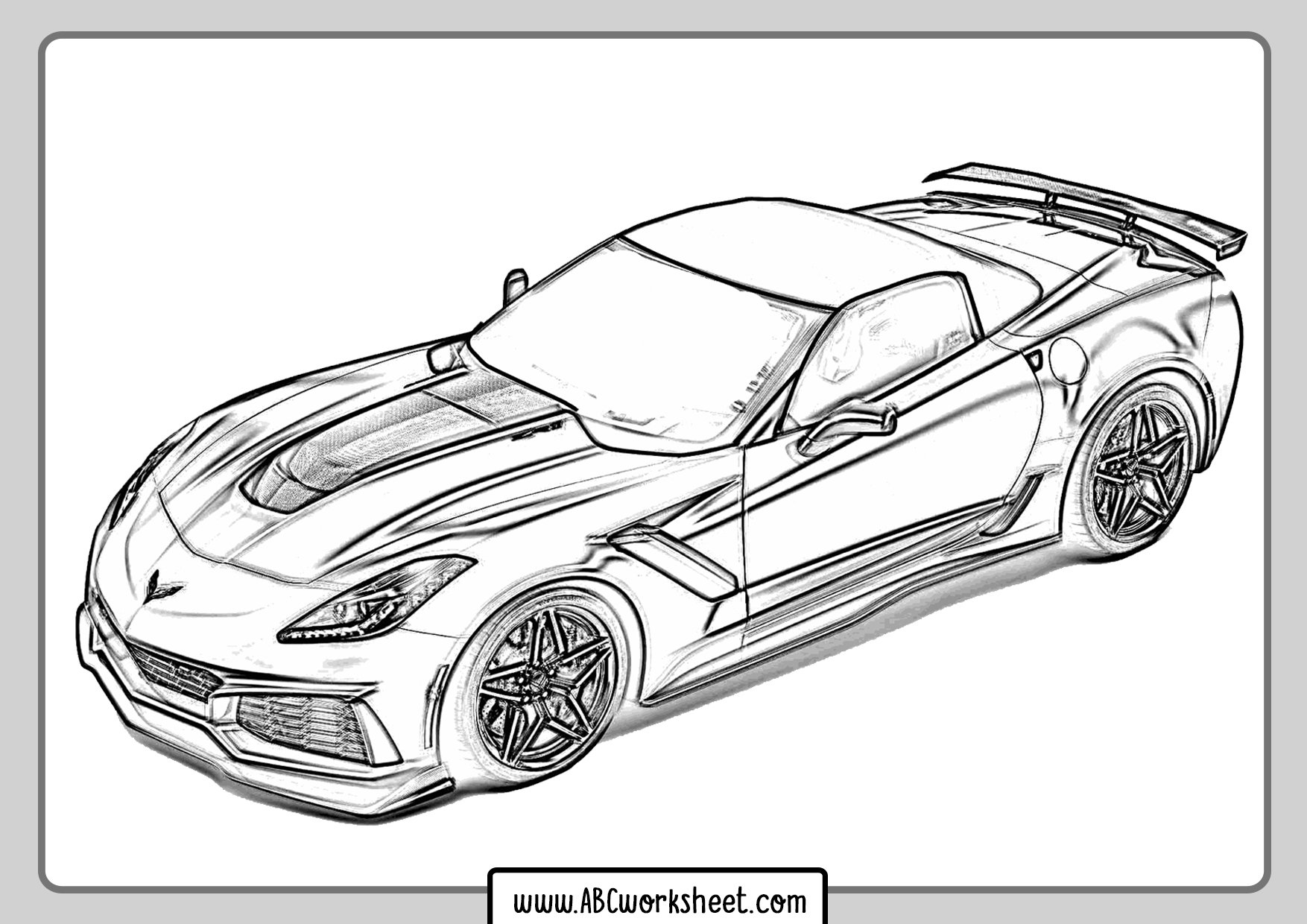 Drifting Racing Car Coloring Pages
