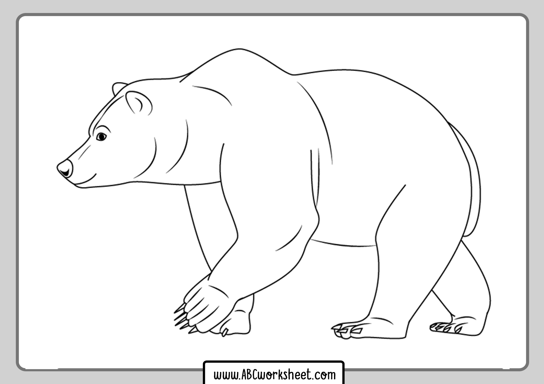 Grizzly Bear Coloring Pages For Kids
