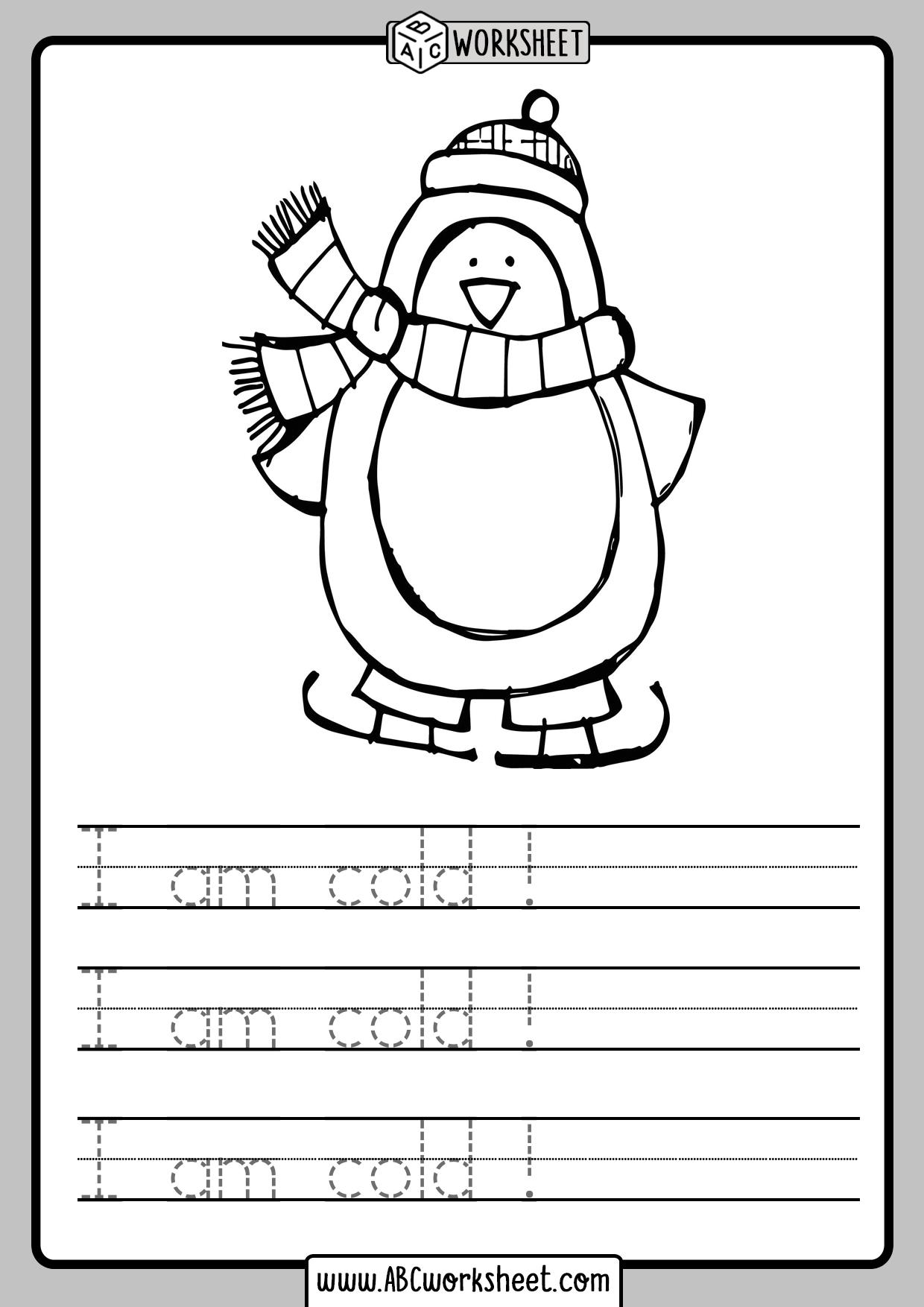 Handwriting Practice Simple Sentences