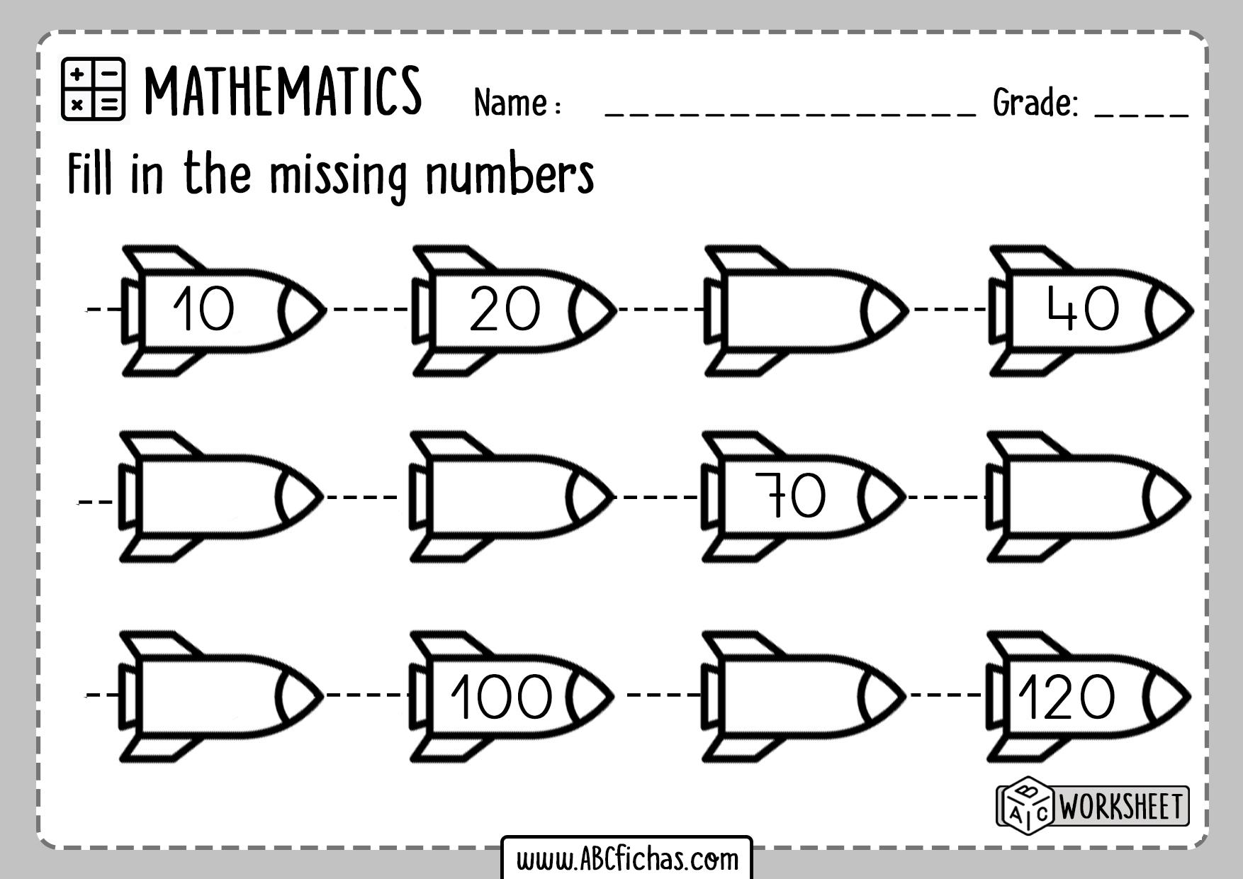 Kindergarten Number Sequence Worksheet