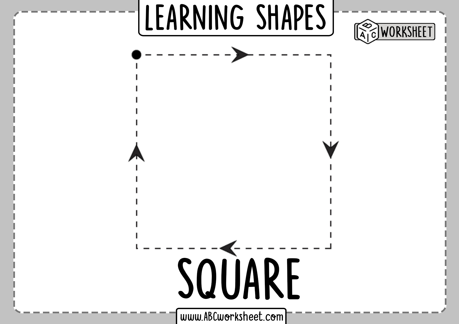 Learning And Tracing Shapes Worksheets