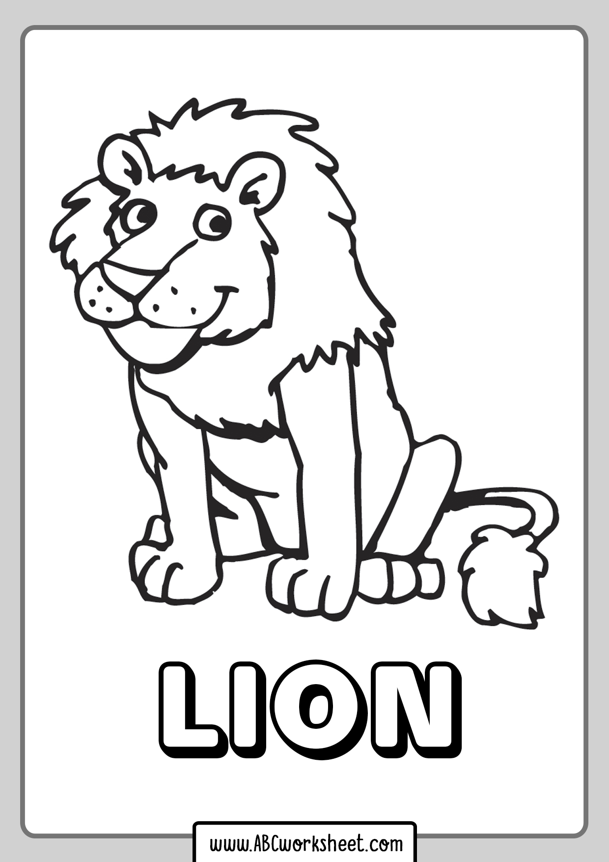Lion Coloring Pages Printables
