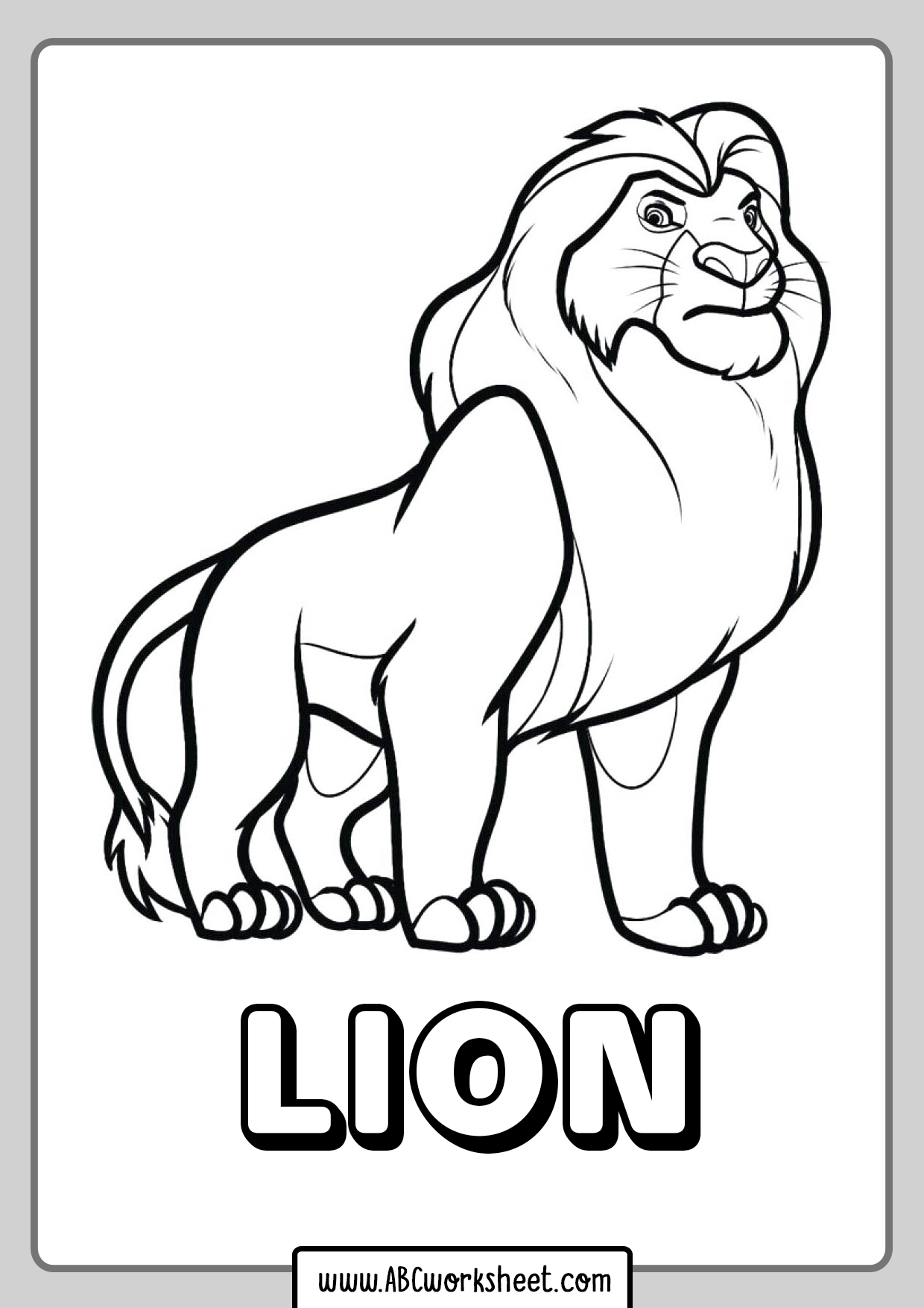 Lion King Coloring Pages For Kids