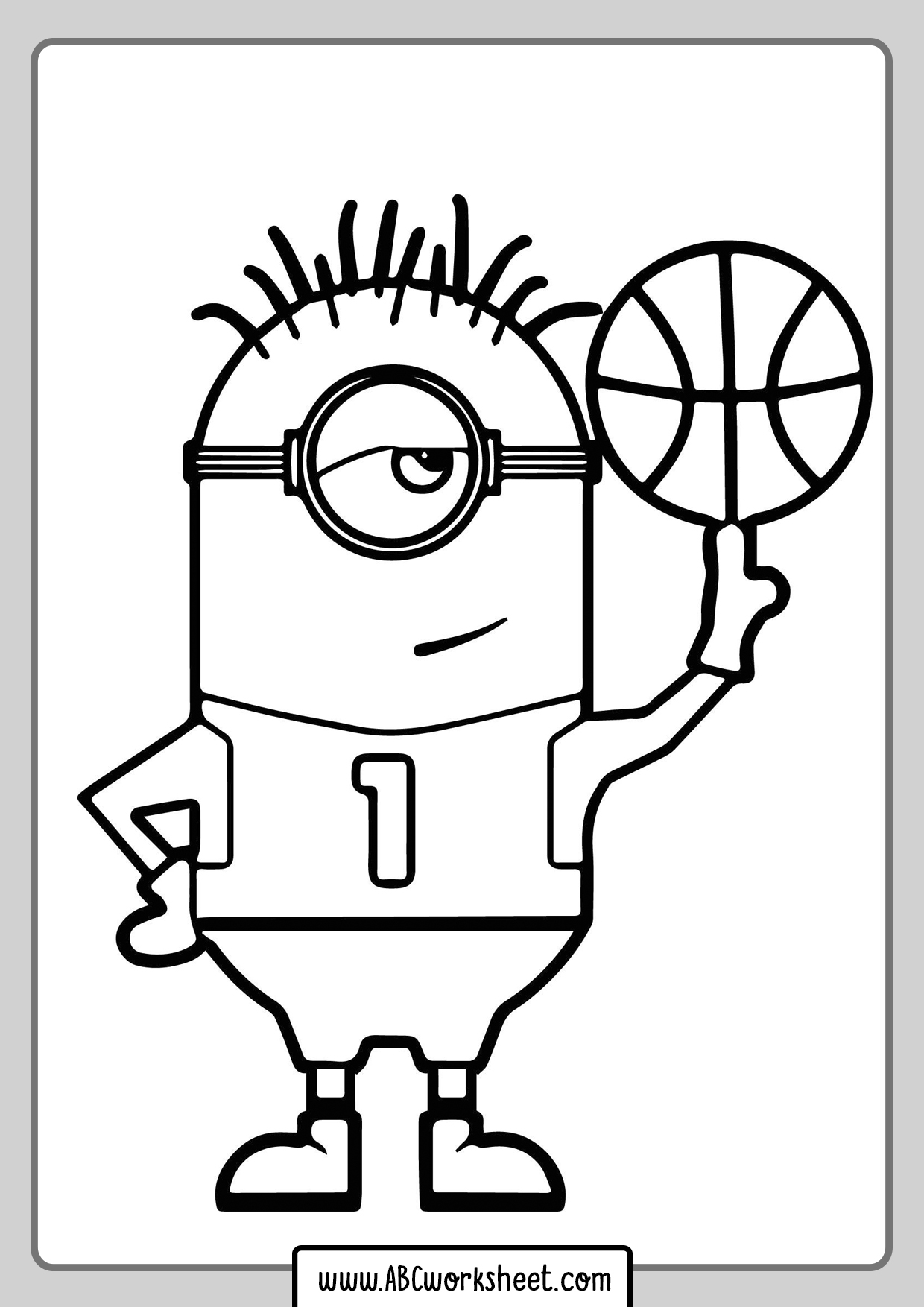 Minions Sports Coloring Pages