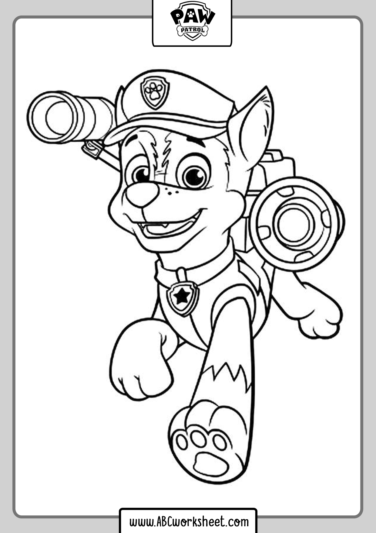 Paw Patrol Drawings To Coloring Chase
