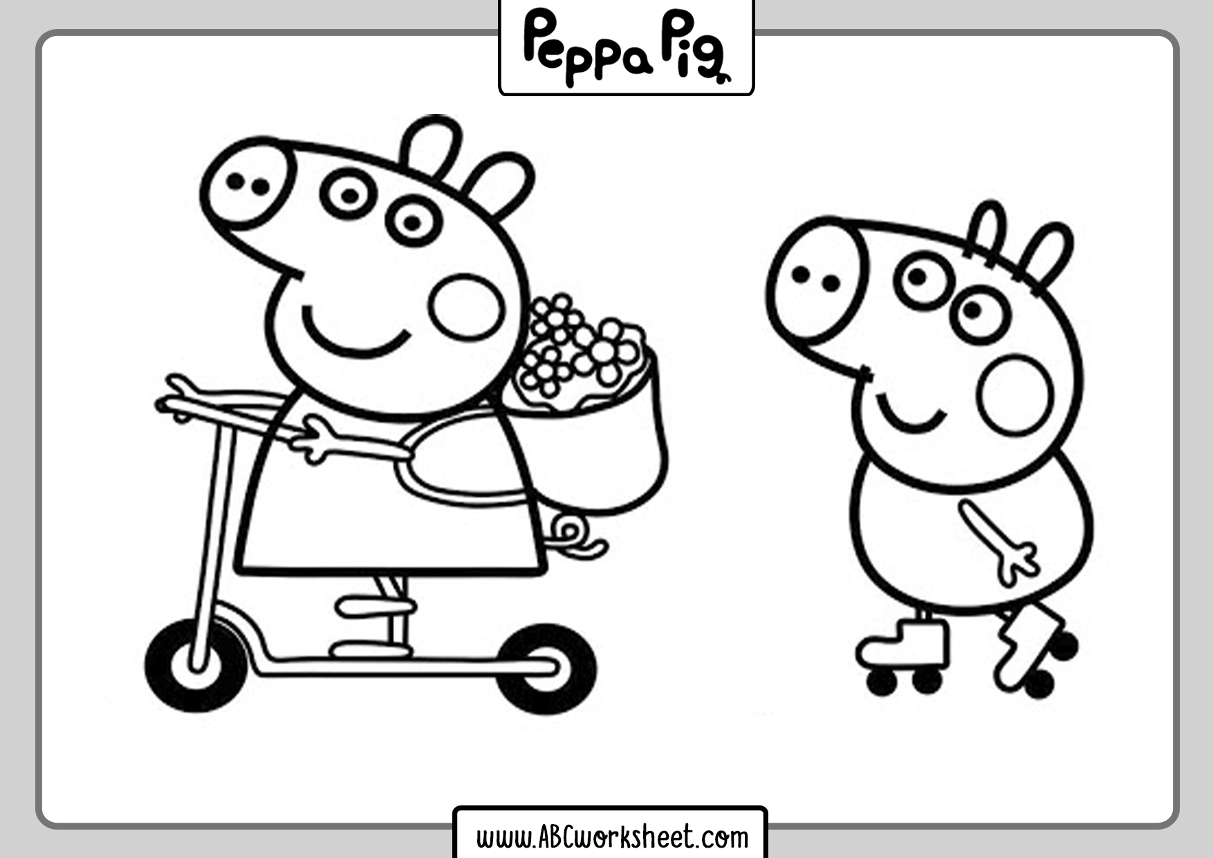Peppa Pig Coloring Printable