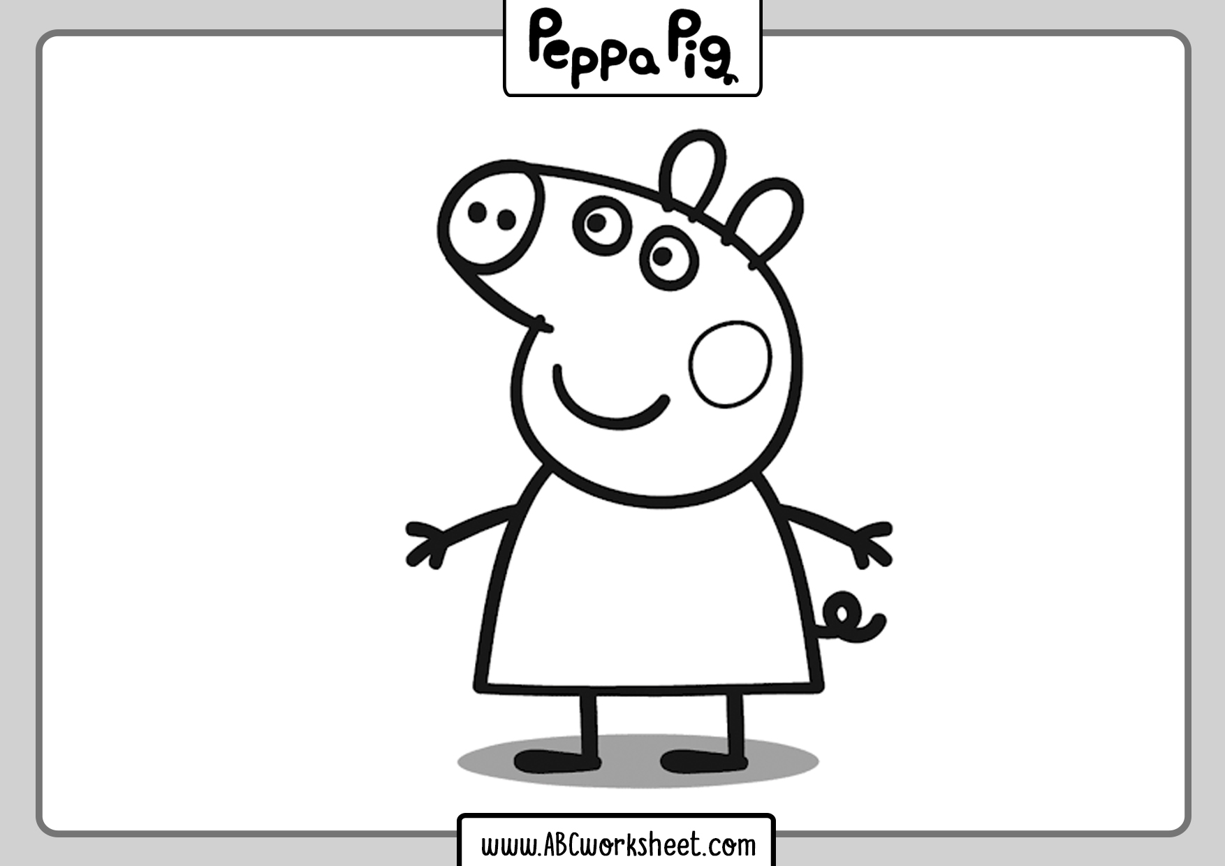 Peppa Pig Coloring Sheets